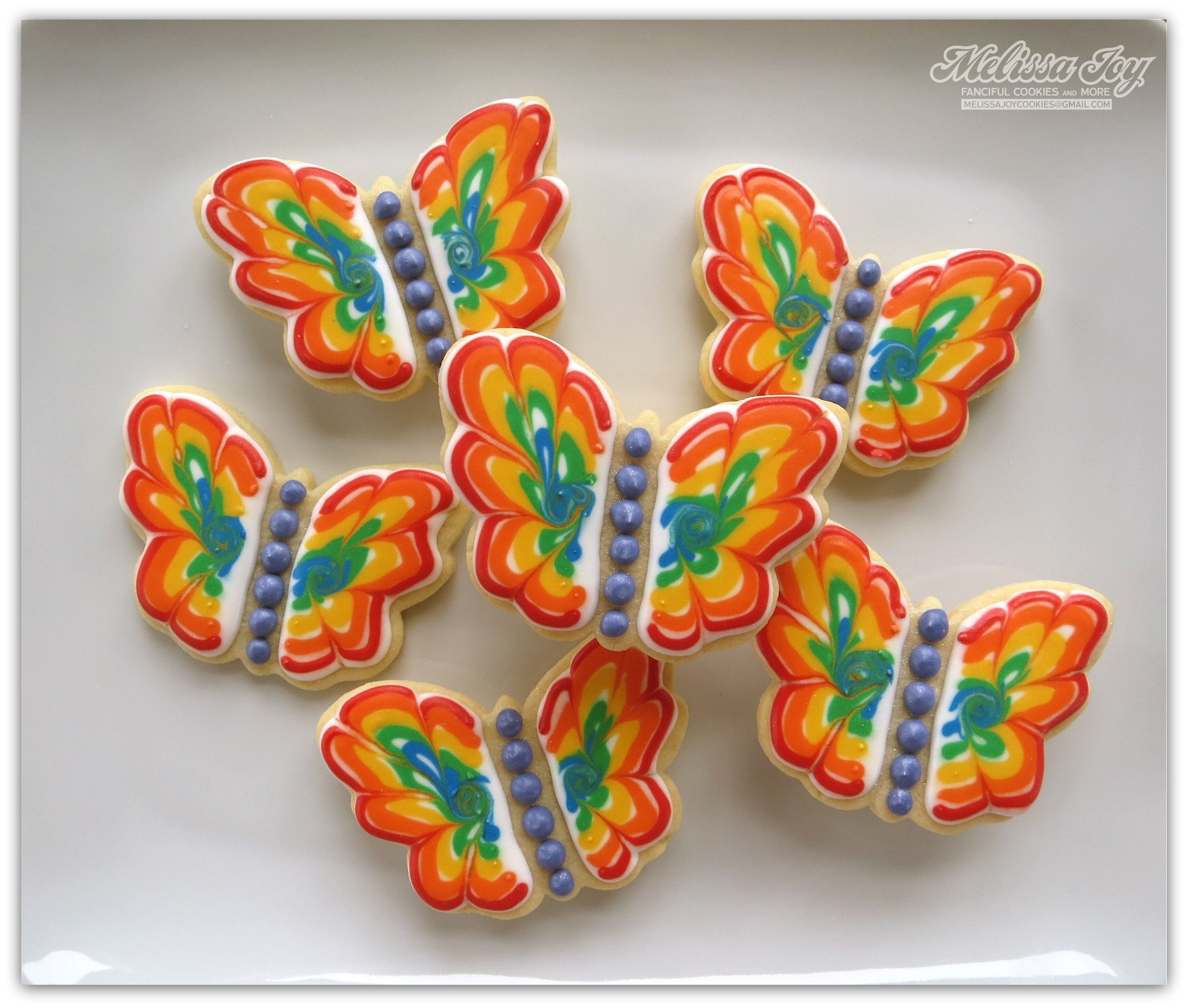 Busy as a melissa joy bee butterfly cookies rainbow