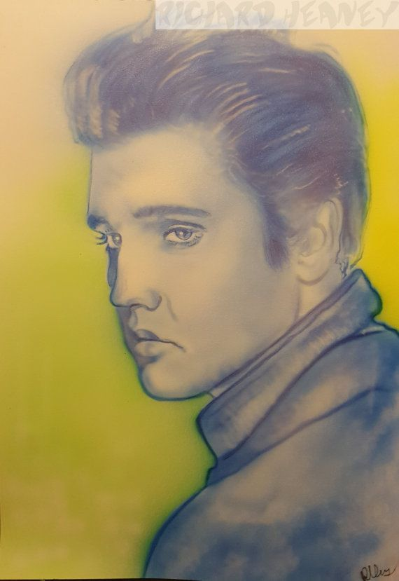 Elvis airbrushed with a semi-realism and pop art style on #airbrush ...