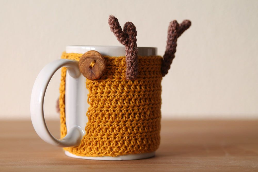 Free Crochet Pattern For Reindeer Mug Cozy Engnl Free Crochet
