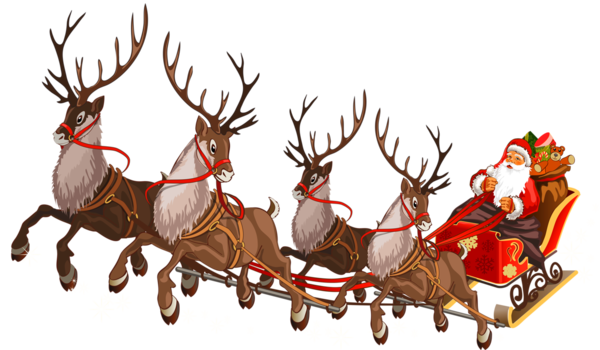 Santa Claus Reindeer Sled Christmas Ornament Chariot For Christmas 1280x746 Rennes Pere Noel Clock Png Pere Noel