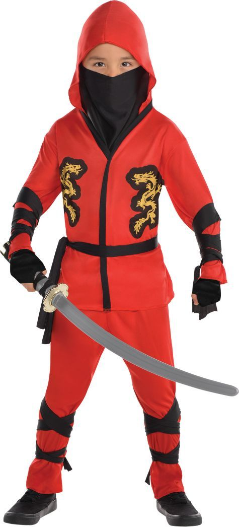 Toddler Boys Fire Dragon Ninja Costume , Party City