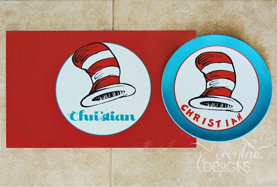 Boy OR Girl Dr Seuss Inspired  Placemat  by EccentricDesignsbyLH, $6.25
