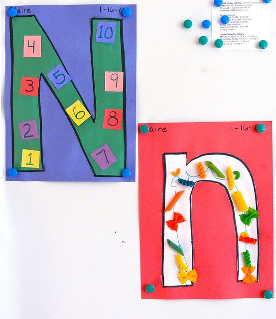 N Is For Numbers And Noodle Letter N Crafts Alphabet Crafts Preschool Letter A Crafts Preschool art activities for letter n