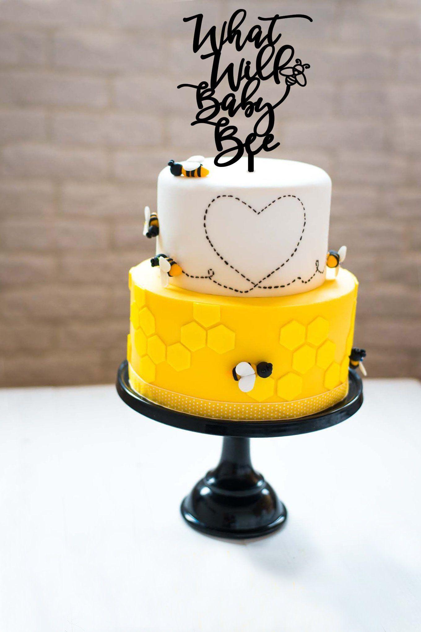 Baby Shower Cake Topper, Gender Reveal Cake Topper, What Will Baby Bee, What Will Baby Bee Cake Topper, Baby Cake Topper, What will baby be #genderrevealideasforpartydiy