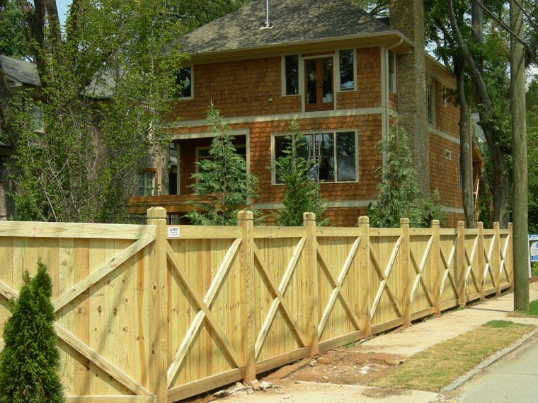 Wooden Privacy Fence X Design; could be taller for patio screen ...