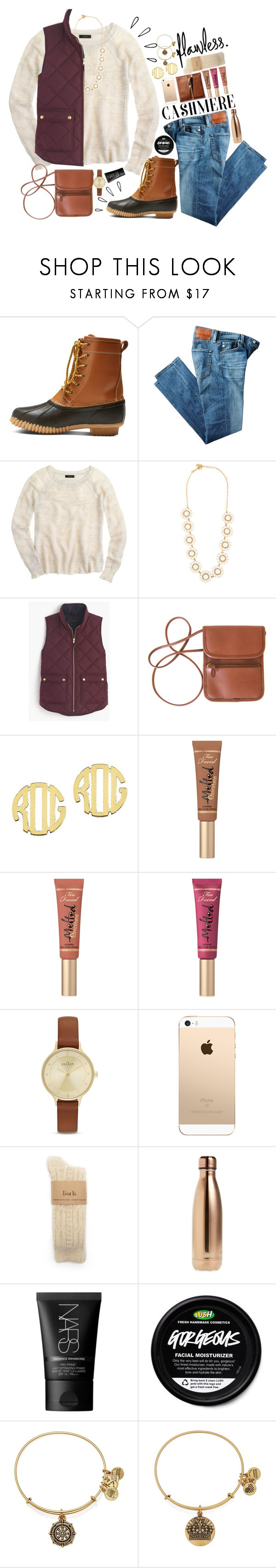 """""""sweater weather"""" by bcsipp ❤ liked on Polyvore featuring Merona, AG Adriano Goldschmied, Old Navy, J.Crew, Kate Spade, QVC, Too Faced Cosmetics, Skagen, S'well and NARS Cosmetics"""