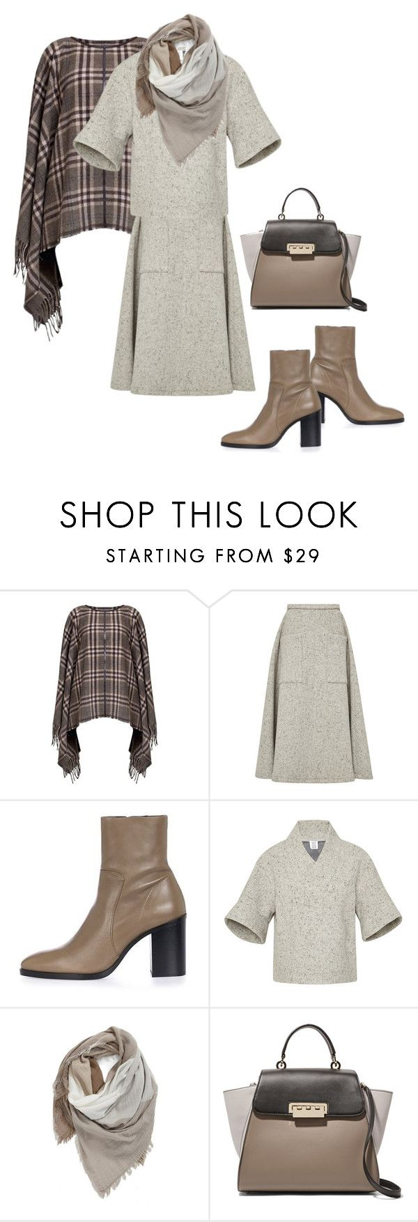 """""""Crisp Fall Day🍂"""" by dolenka ❤ liked on Polyvore featuring Rumour London, Rosie Assoulin, Topshop, BP. and ZAC Zac Posen"""