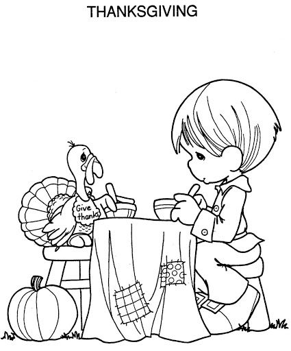 Turkey Thanksgiving Coloring Page For Kids Toddlers Precious M Precious Moments Coloring Pages Thanksgiving Coloring Pages Free Thanksgiving Coloring Pages