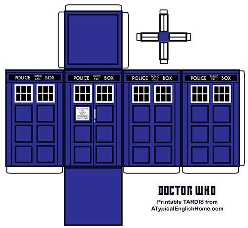 photo relating to Tardis Printable known as A Traditional English Household: Physician Who Printable TARDIS And