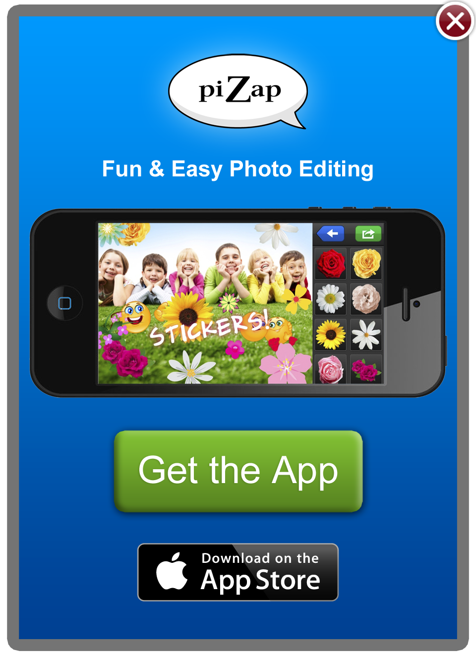 piZap photo editor app also for iPhone and iPad Iphone