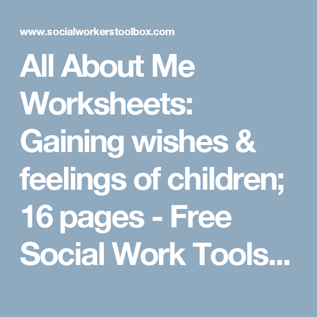 All About Me Worksheets: Gaining wishes & feelings of children; 16 ...