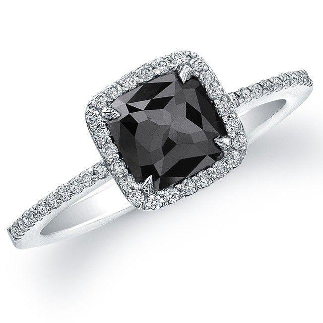 Top 25 Rare Black Diamonds For Him Her Pouted Online Magazine Latest Design Tren Black Diamond Ring Engagement Black Diamond Halo Ring Black Diamond Ring