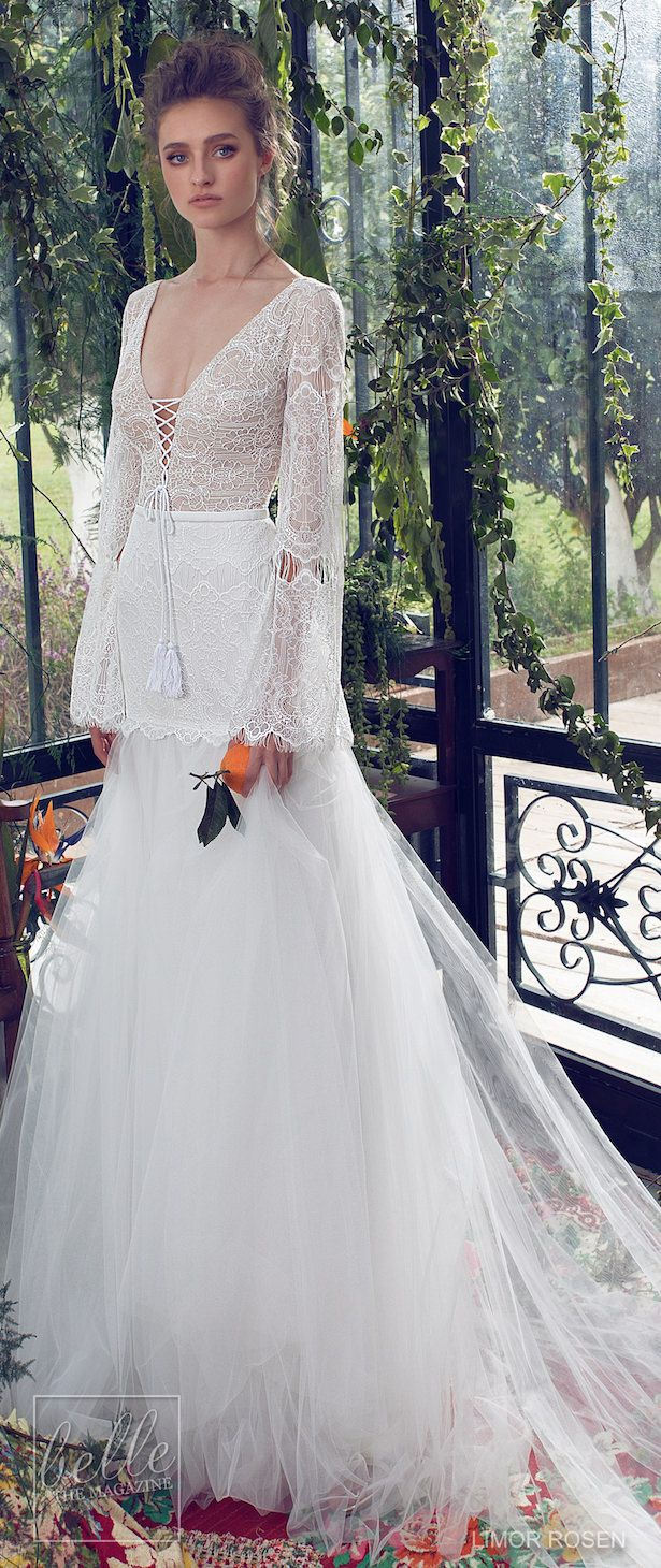 Lace dress bell sleeves june 2019 XO by Limor Rosen  Wedding Dresses  Amazing Wedding Gowns Past