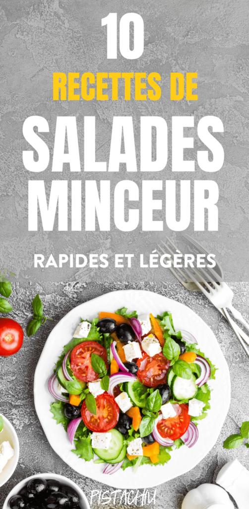 10 Recettes de Salade Minceur pour lÉté