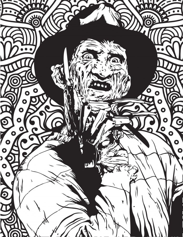 Horror Movies Printable Coloring Pages Scary Coloring Pages Skull Coloring Pages Halloween Coloring Pages