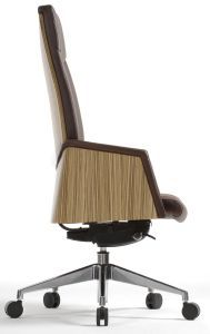 Fauteuil Direction Cuir Avec Coque Bois Design Dalur Chair Office Chair Home Decor