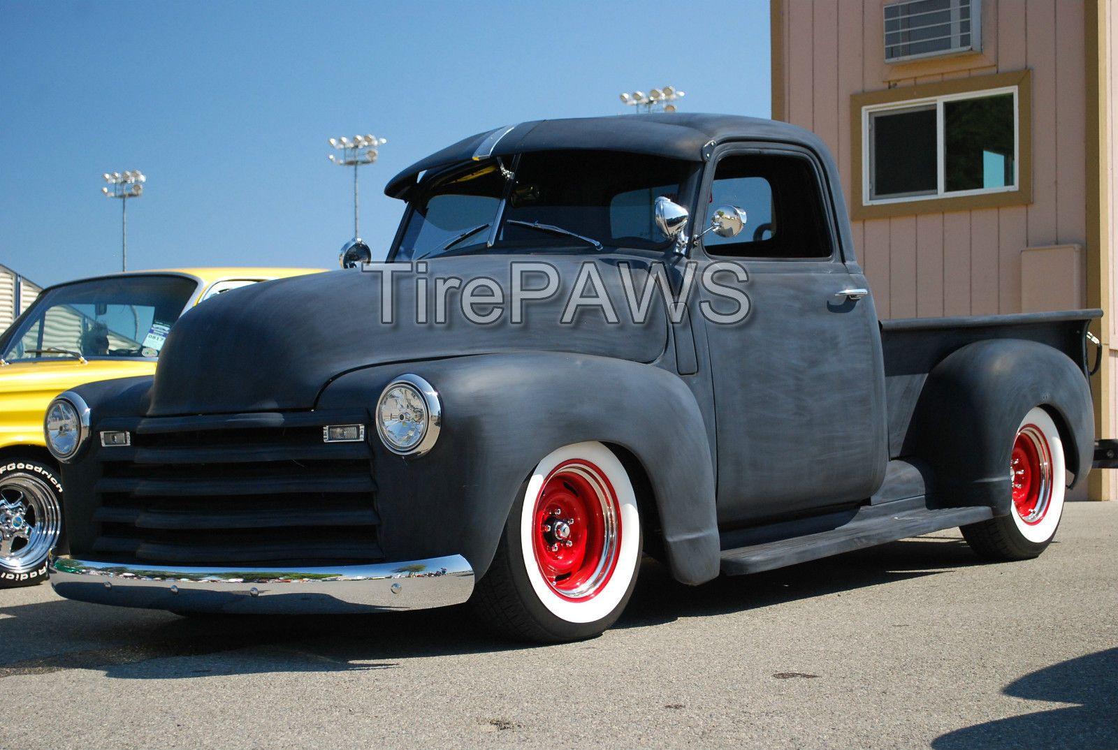 "ATLAS Portawalls 17/"" Add-On Black Red Wall Tire Insert Trim SET OF 4.old school"