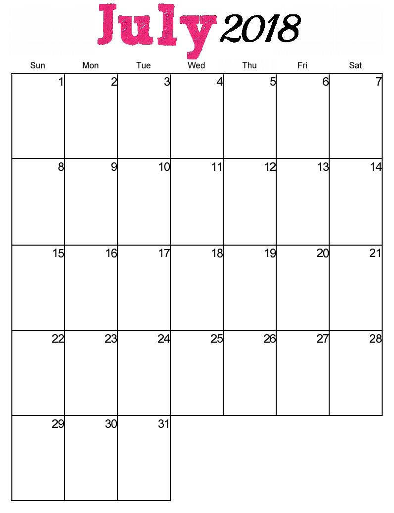 Calendar Pages Vertical : Free printable july vertical calendar maxcalendars