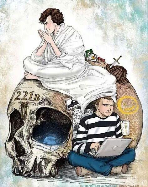 Sherlock and John | fan artwork by sketchditto.deviantart.com