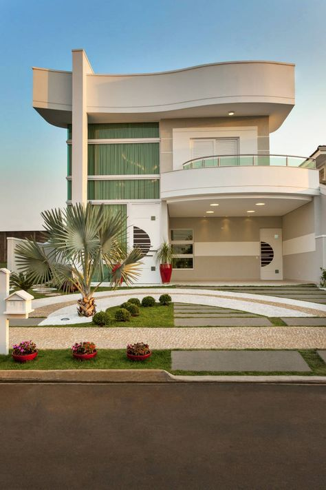 Casa de andar com fachada moderna e ambientes maravilhosos for Casa moderna design
