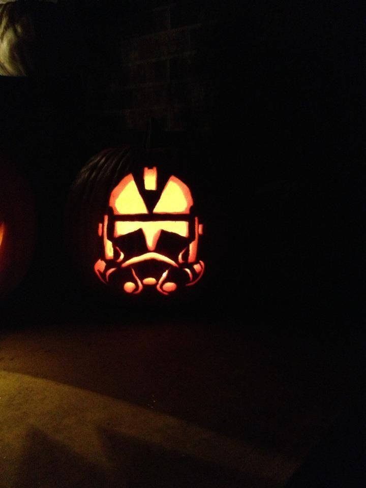 Our Clone Trooper Jack O Lantern Star Wars Pumpkin Carving