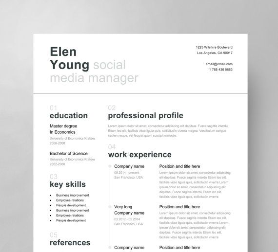 Swiss Resume Template Cover Letter Reference By Resumeangels ItS