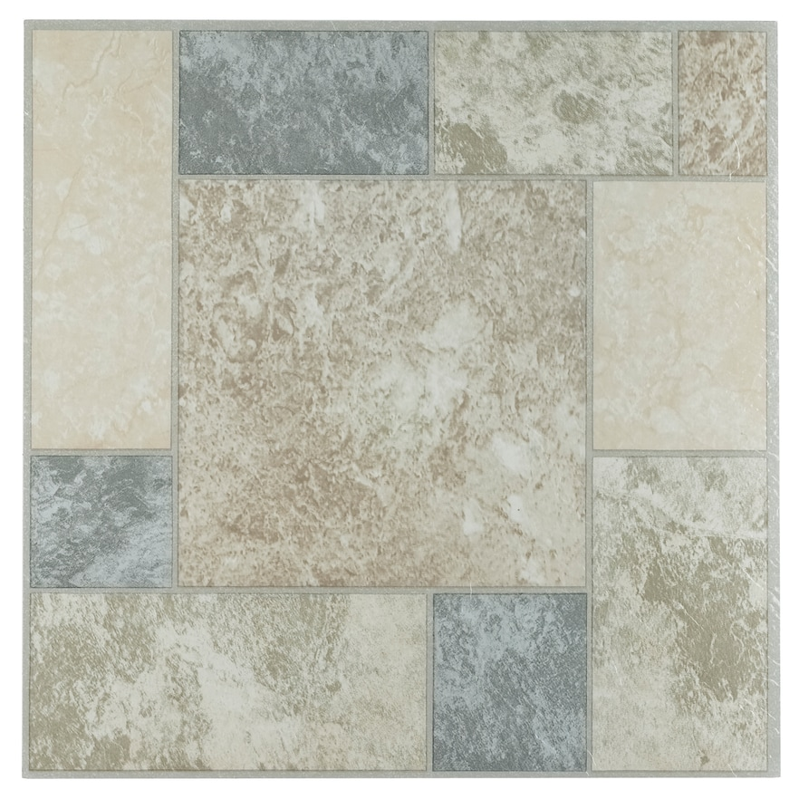 Achim Tivoli Marble Blocks 45 Piece Self Adhesive Vinyl Floor Tile Set Vinyl Flooring Luxury Vinyl Tile Vinyl Tiles