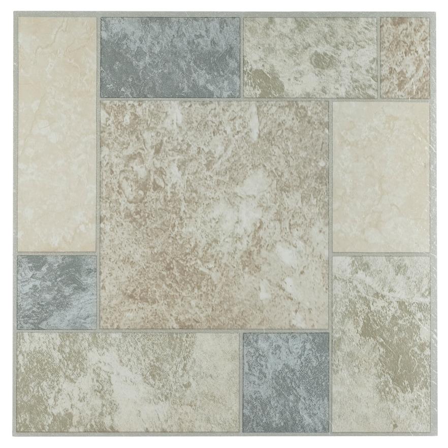 Achim Tivoli Marble Blocks 45 Piece Self Adhesive Vinyl Floor Tile Set Vinyl Flooring Luxury Vinyl Tile Vinyl Tiles