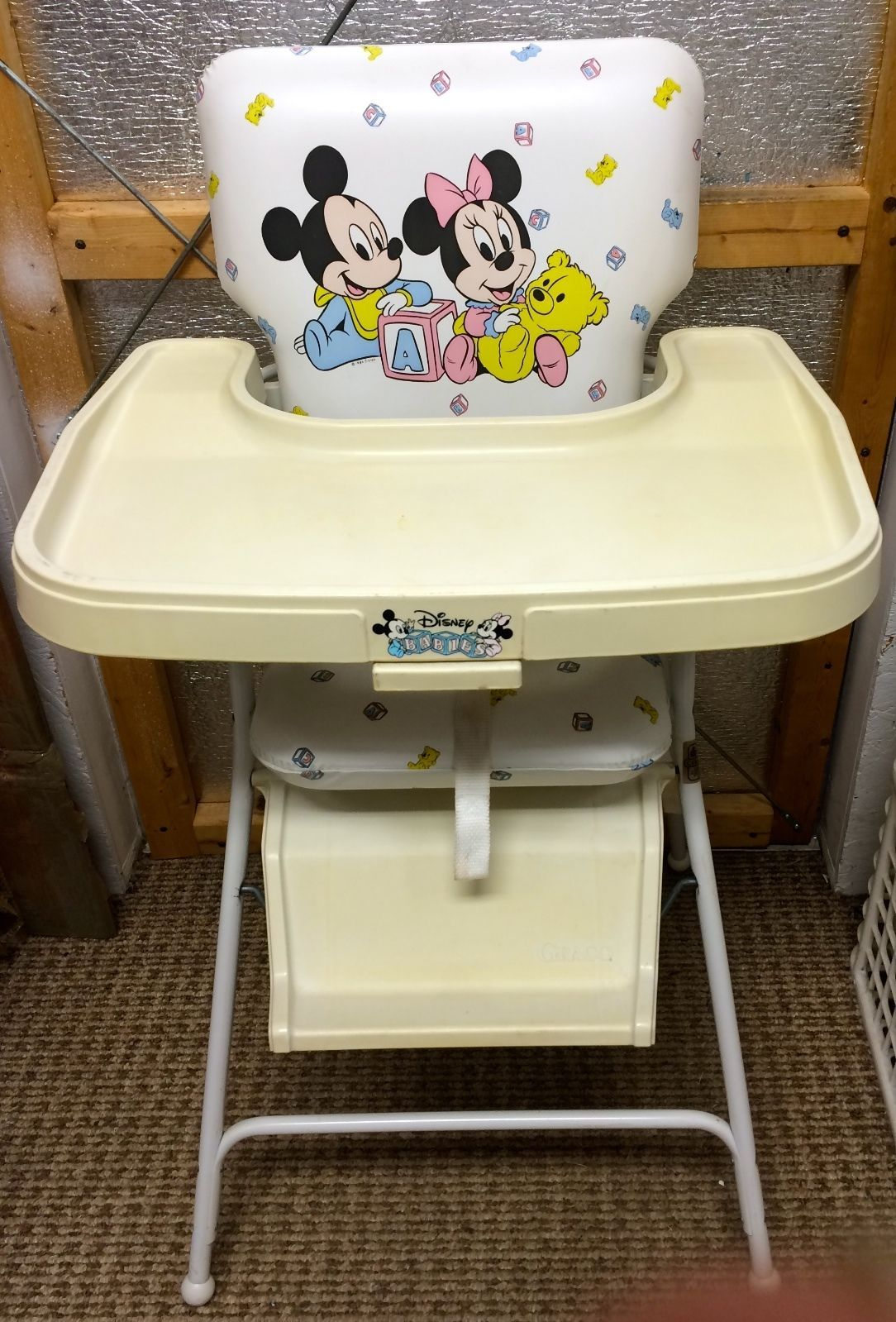 old high chair ideas baby sitting for car vintage 1984 graco disney babies mickey minnie