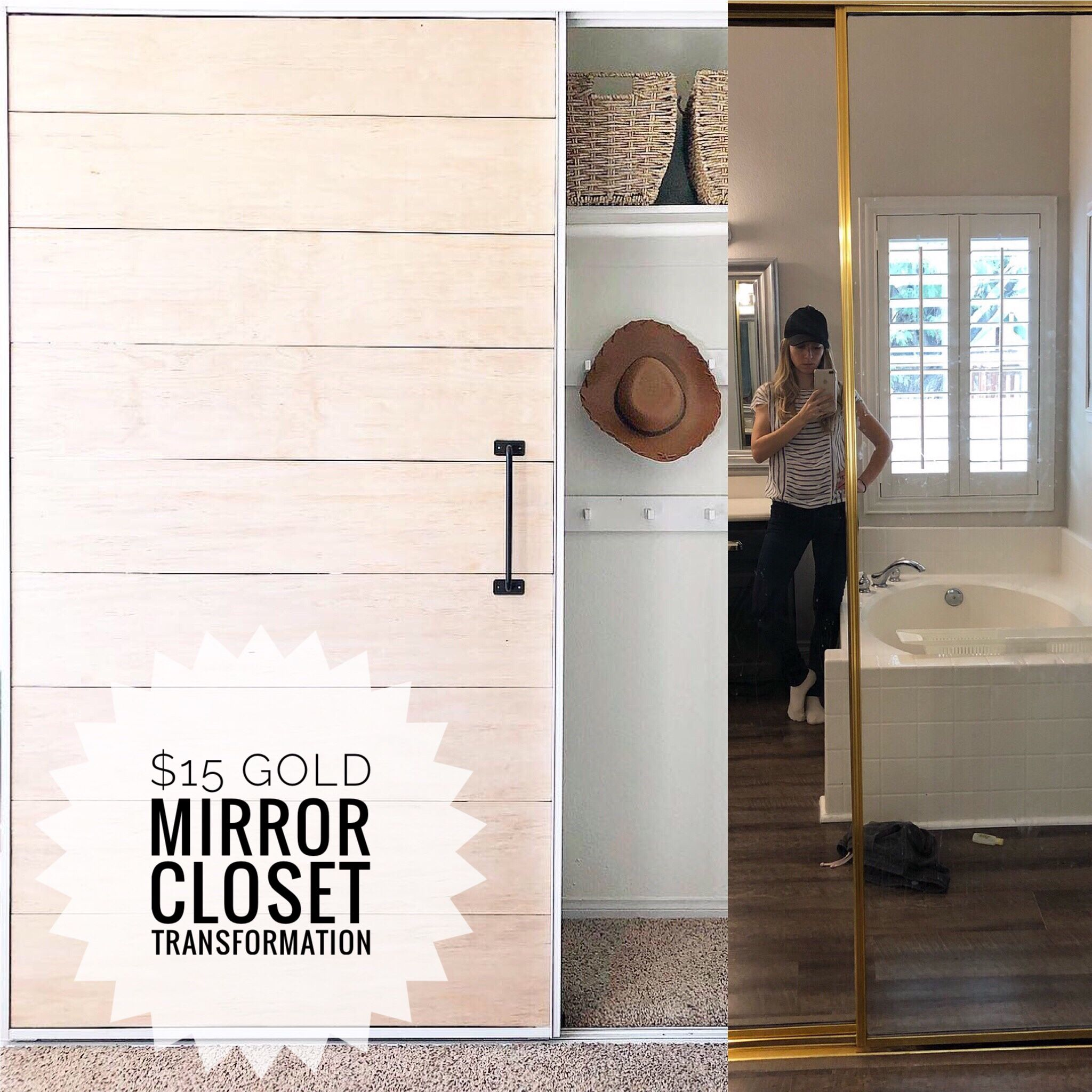 How To Transform Your Old Gold Mirror Closet Doors For 15 Spray