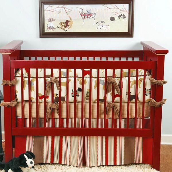 Puppy Themed Nursery Decor Puppies Crib Bedding