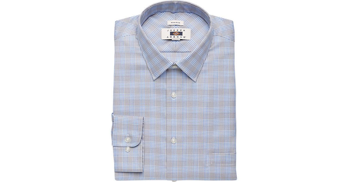 Check this out! Joseph Abboud Egyptian Cotton Blue & Gray Plaid Dress Shirt from MensWearhouse. #MensWearhouse