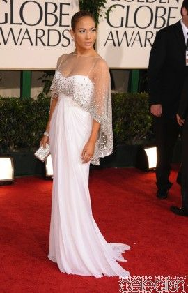 043491765e9c Jennifer Lopez White Dress at 2011 Golden Globe Awards Red Carpet Dress