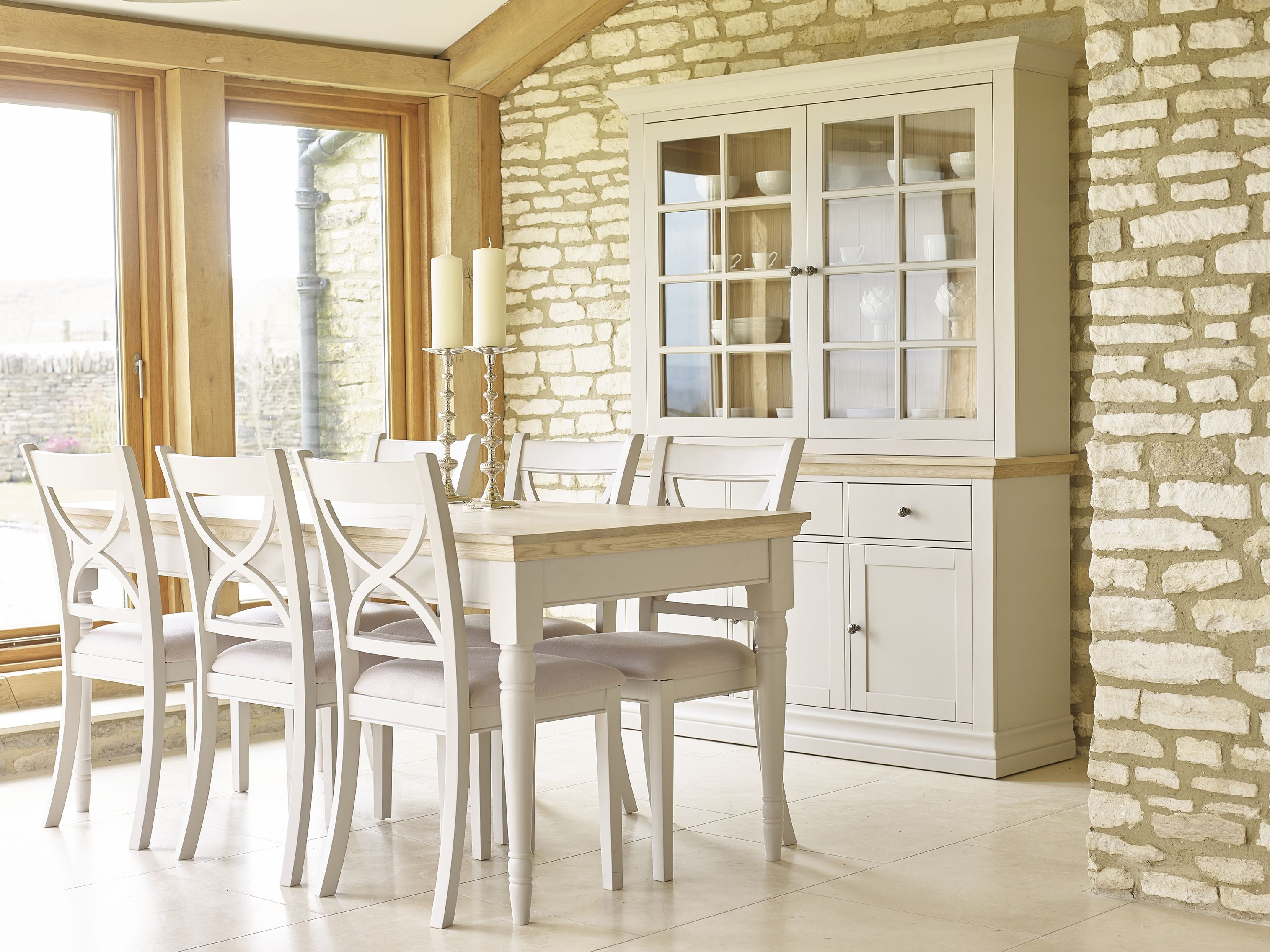 The Corndell Annecy Dining Room Hand Painted In A Cool Cotton 1 Of