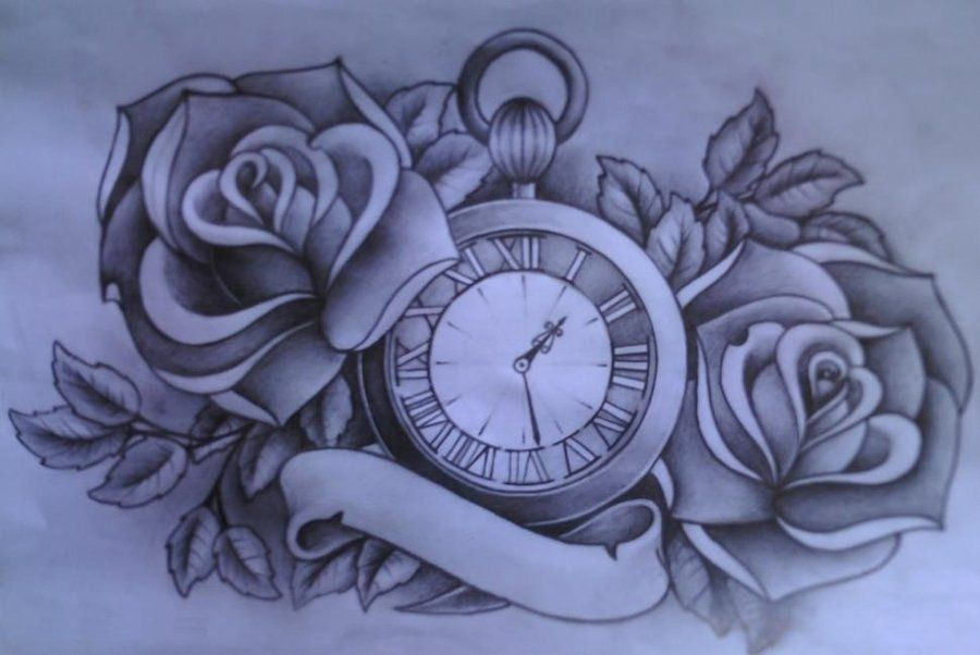 Pocket watch tattoo sketch  Watch by A-P-T.deviantart.com | Ink | Pinterest | deviantART ...