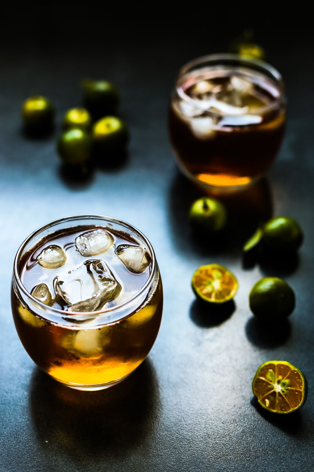 Honey Calamansi Iced Tea is a drink made out of tea infused with calamansi and honey then served with lots of ice. It similar to the ice lemon tea but instead of lemons we use calamansi fruit which is more fruity in flavour but still give that good sour bite.