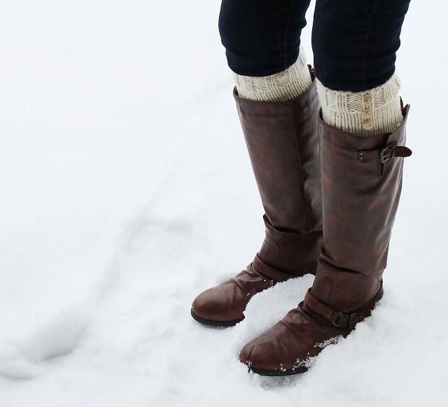 Knitted Boot Cuffs   CRAFTS   Pinterest