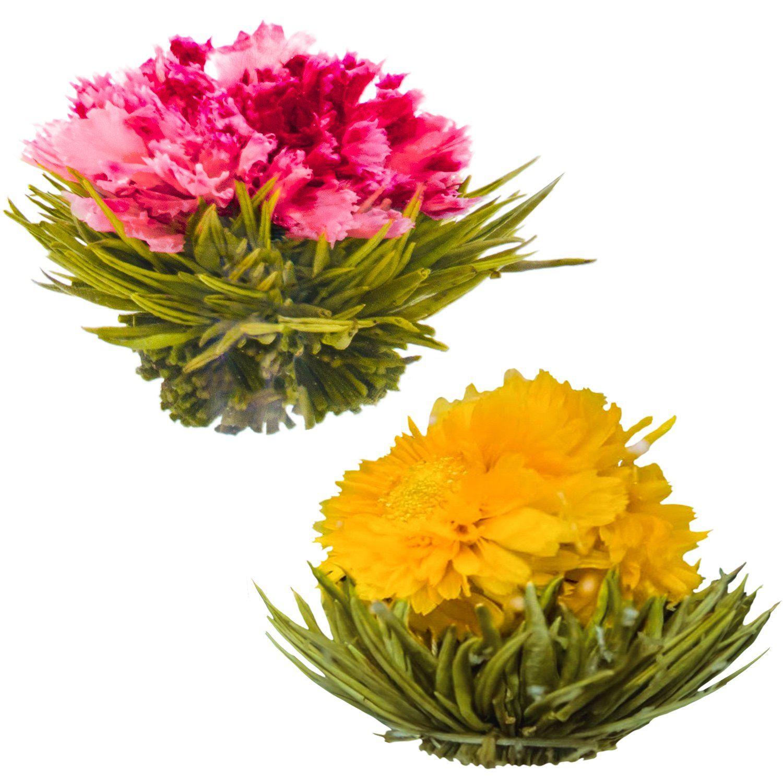 Blooming tea flowers pomegranate pineapple flowering