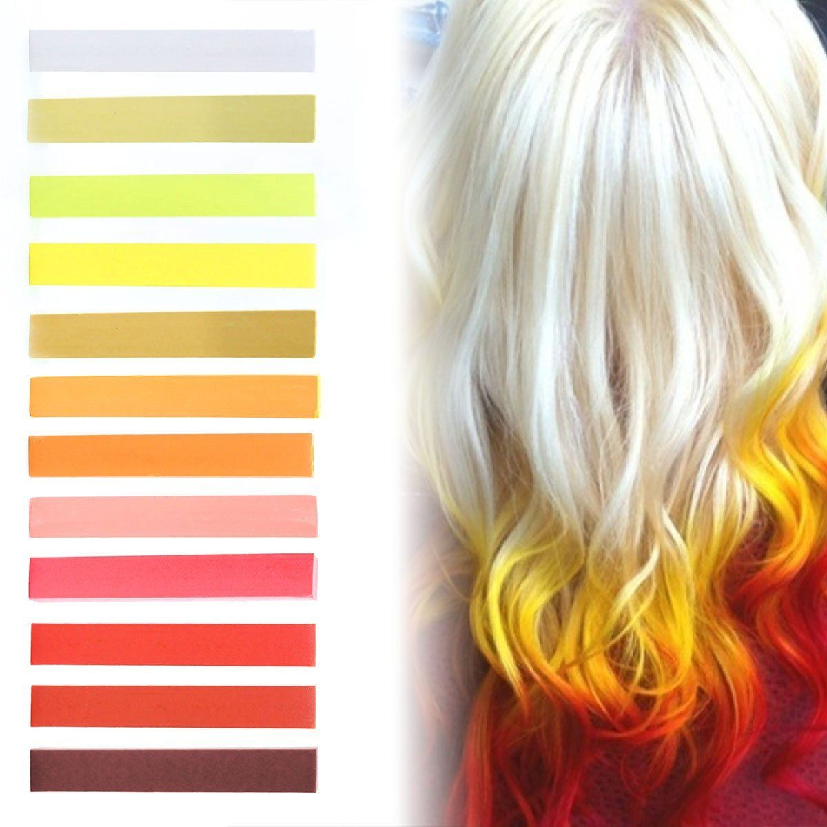 Fire Strawberry Blonde Ombre Hair Dye Set Of 12 Vanilla Mustard