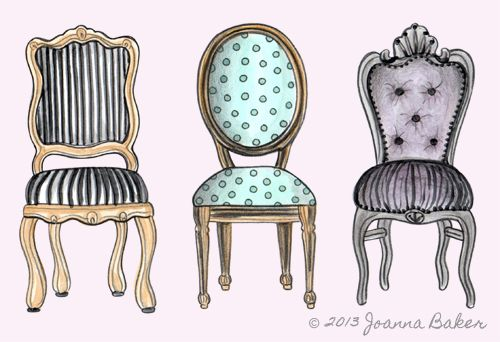 The Blog Joanna Baker Fashion Lifestyle Illustrations Custom Illustrations Stationery Art Prints Paper Goods And More Page 7 Illustration Decor Interior Illustration Drawing Furniture