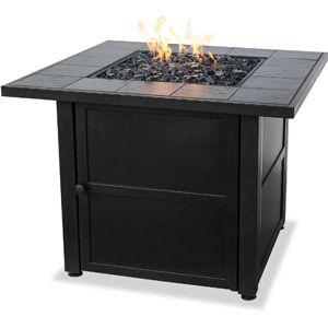 Uniflame Lp Gas Ceramic Tile Fire Pit Table Gas Fire Pit