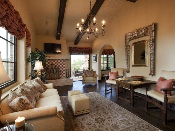 European Villa, Henderson, Nevada Home Living rooms to relax and