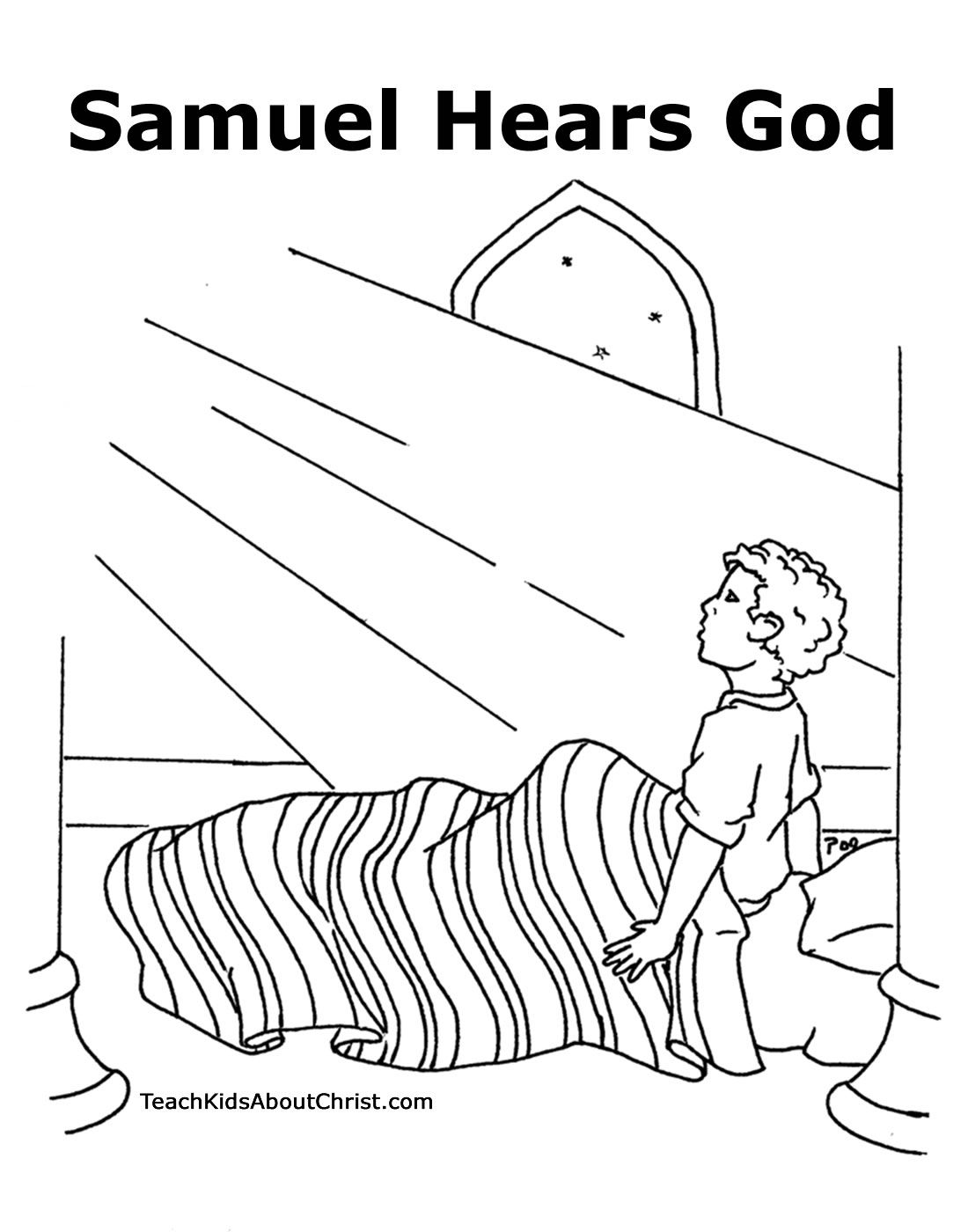 Dios habla a Samuel - hoja para colorear | imagenes de la biblia ...