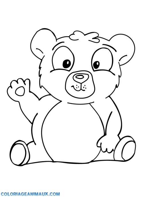 Coloriage b b ours fait un coucou pour enfants coloriages pour grand coloriage coloriage - Coloriage pour grand ...