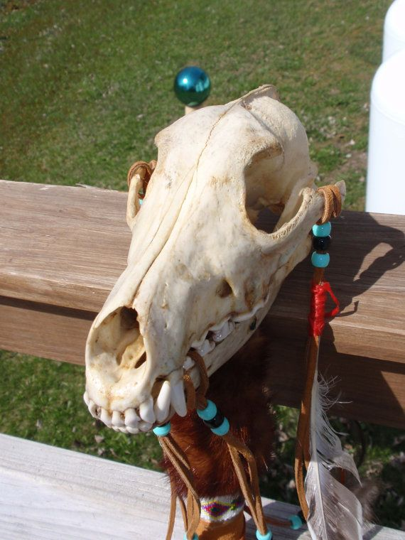 Skull Staff with tail by jacquielm on Etsy, $40.00