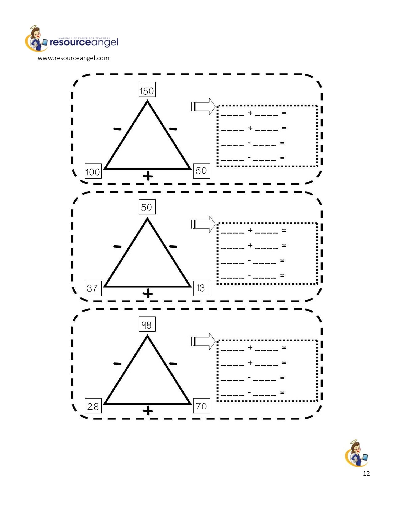 Inverse Operations Worksheet Year 4