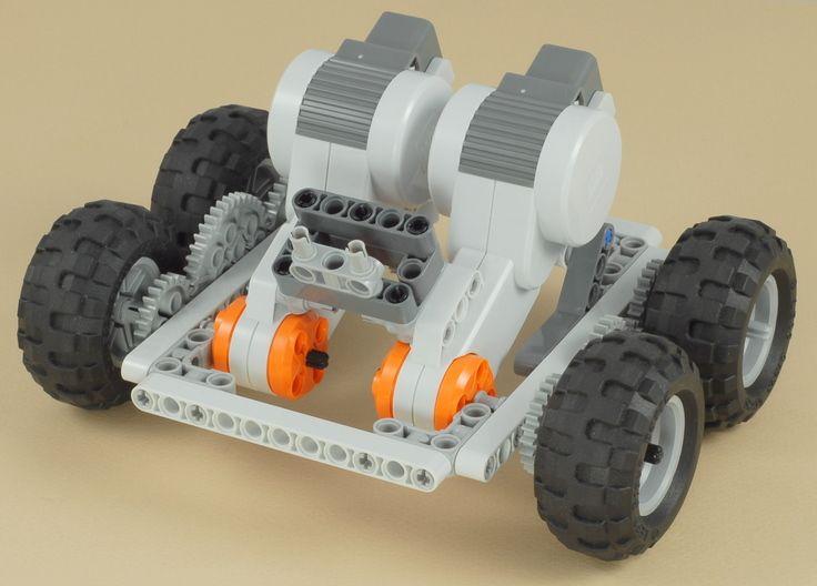Lego Mindstorms Nxt 4x4 Chassis Legobots Pinterest Lego