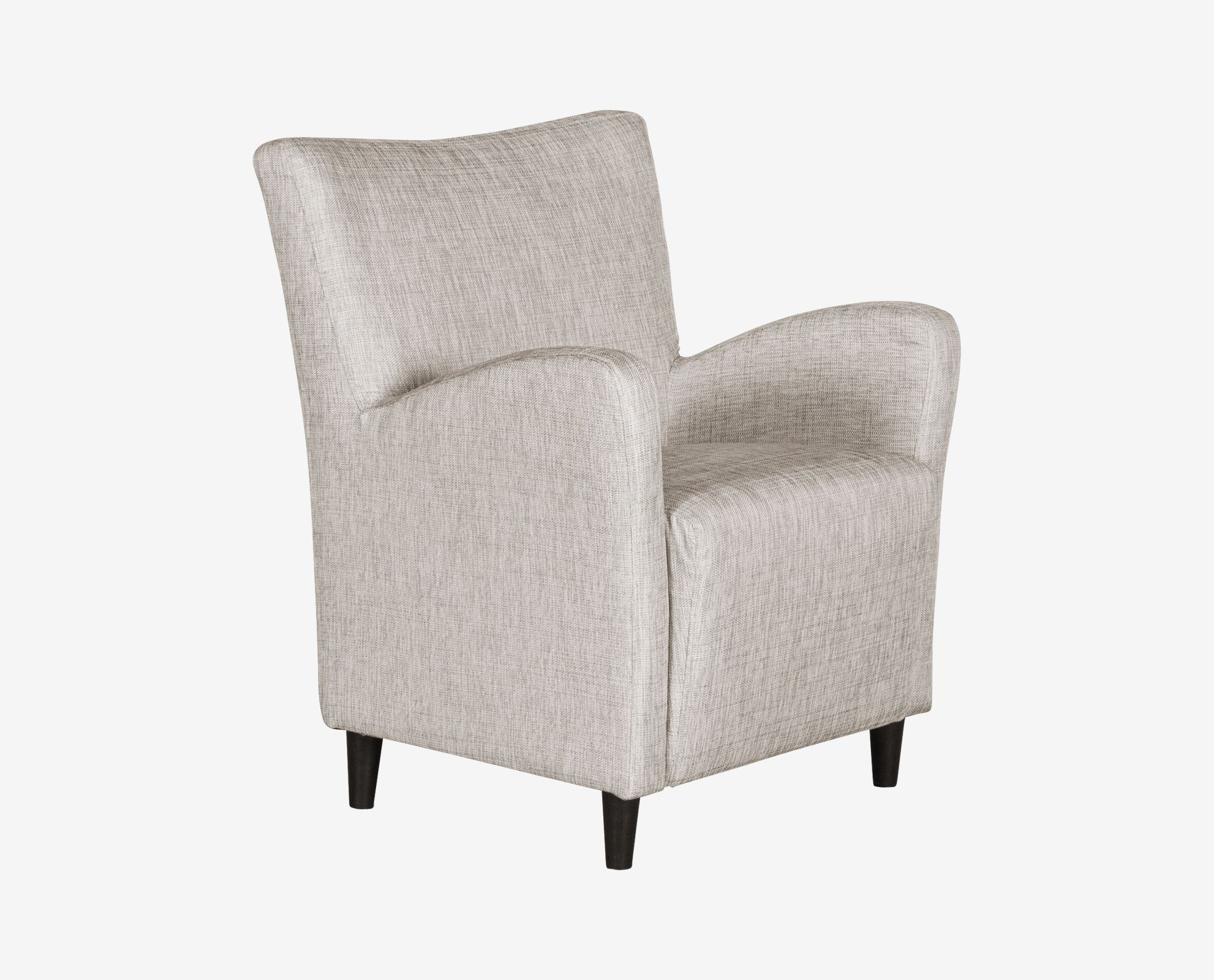 Scandinavian Accent Chair Dania With Elegantly Angled Arms And Tapered Legs The