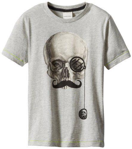 Diesel Boys 8-20 Tuni T-Shirt Skull Face...