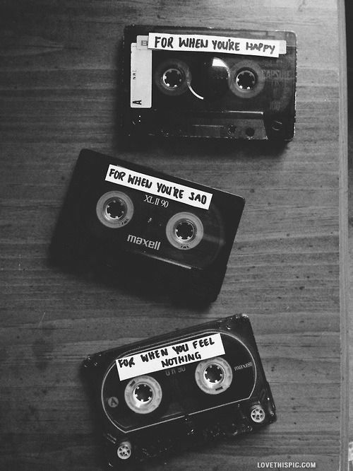 Music For You Quotes Cute Black And White Quote Love Quote Cassettes Black And White Aesthetic Black Aesthetic Black And White Photography
